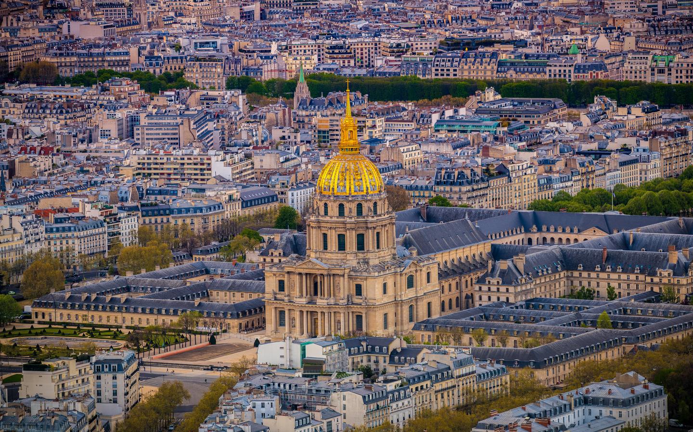франция, дома, montmartre, париж, сверху, город
