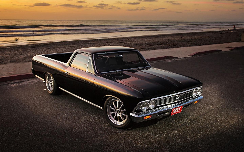 american, classic, car, chevrolet, el camino