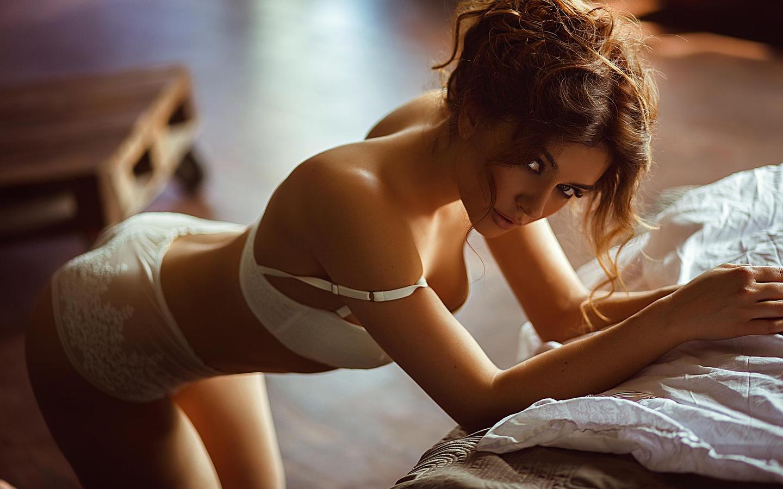 модель, девушка, поза, взгляд