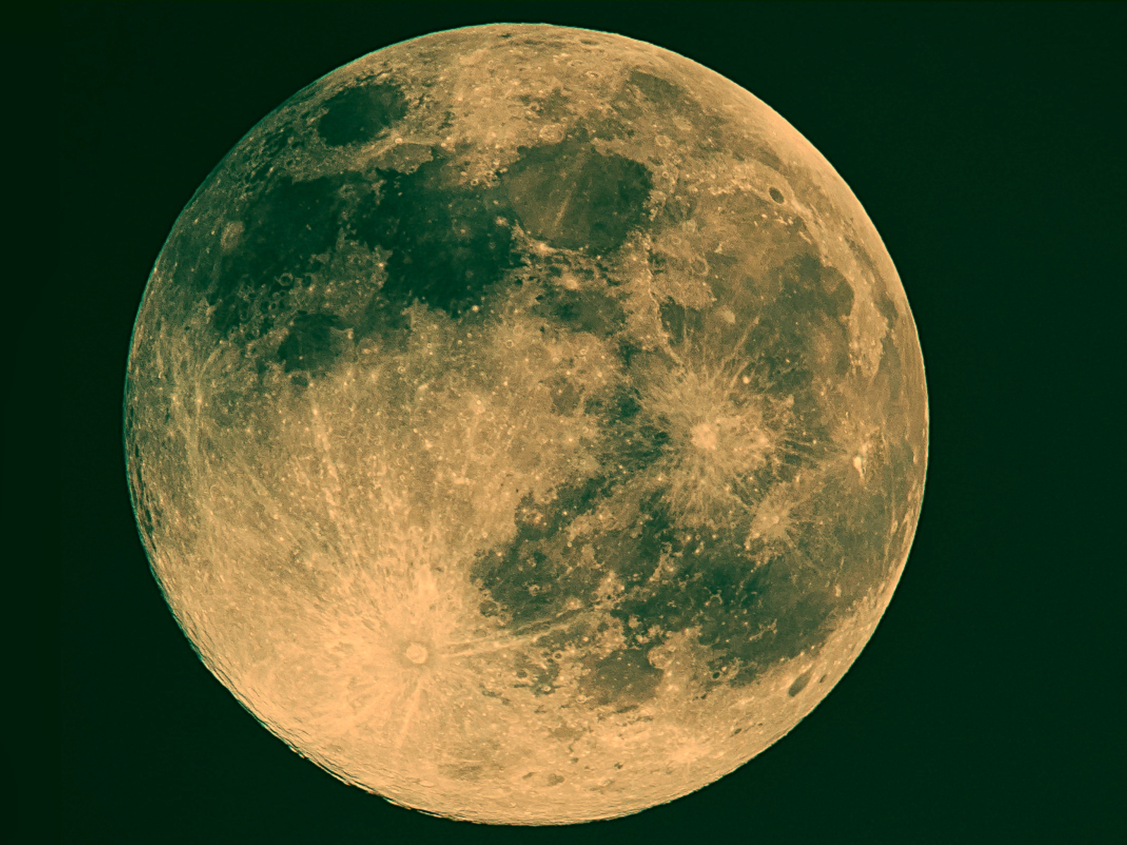луна, полная, ночь