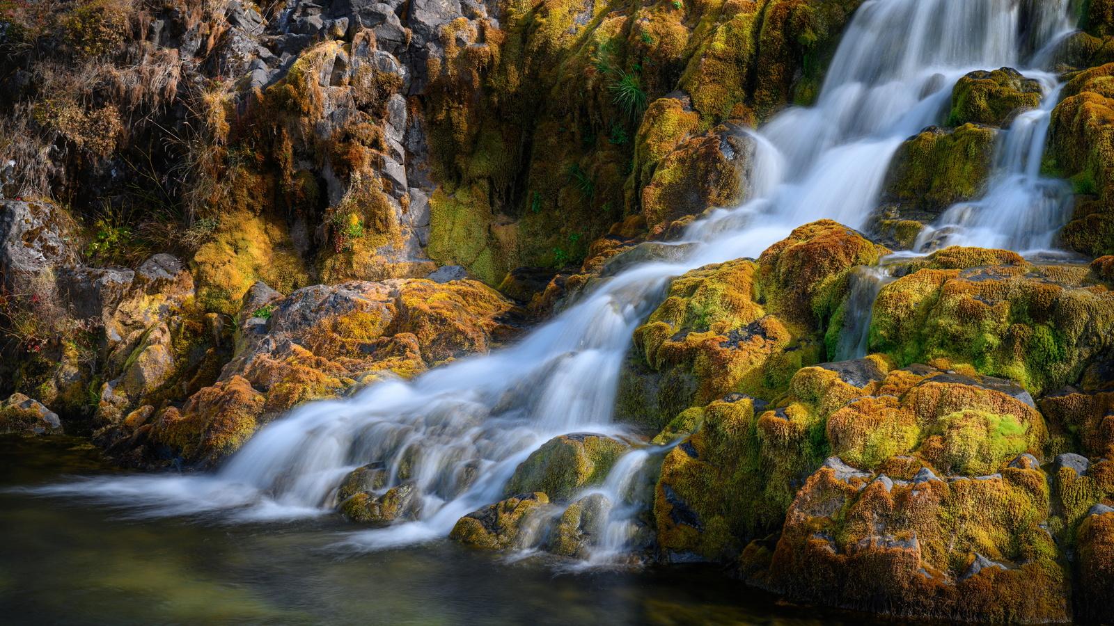 исландия, водопад, камни, реки, dynjandi waterfall, westfjords, мох, природа