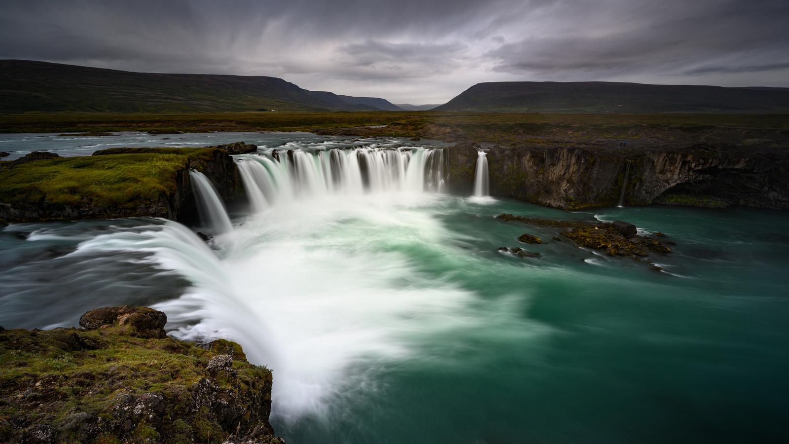 исландия, водопад, горы, godafoss, nordjurland-ejstra, природа