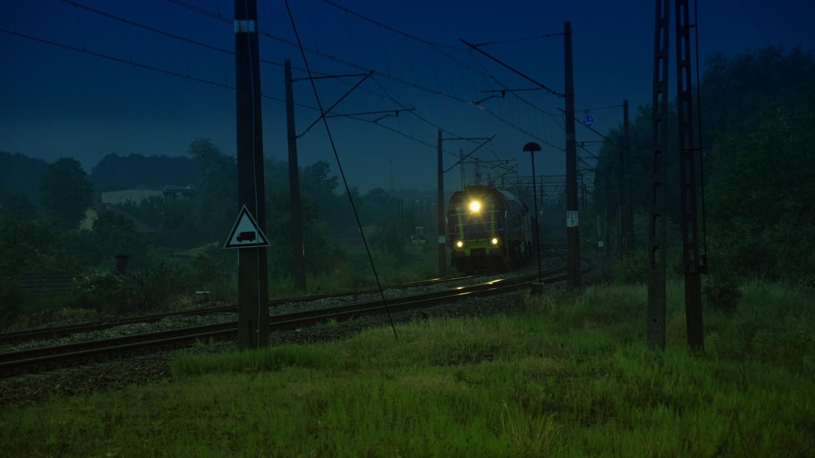 ночь, поезд, огни