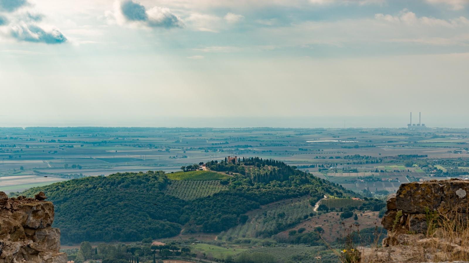 тоскана, италия, горизонт, холмы, природа