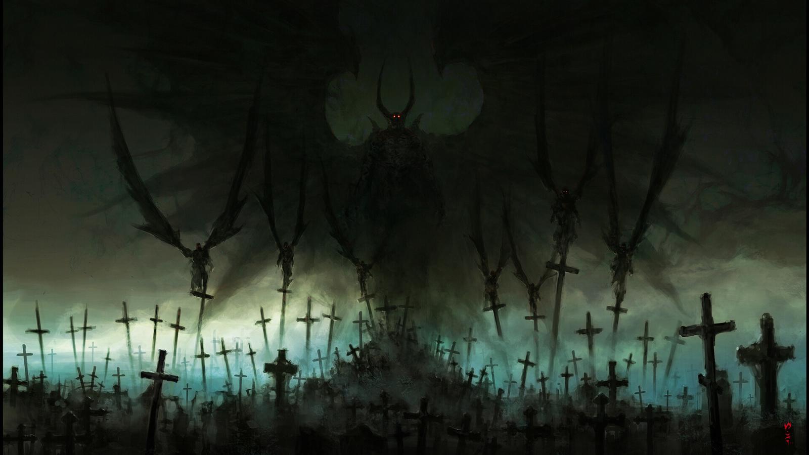 фэнтези, демоны, vultures, chriscold