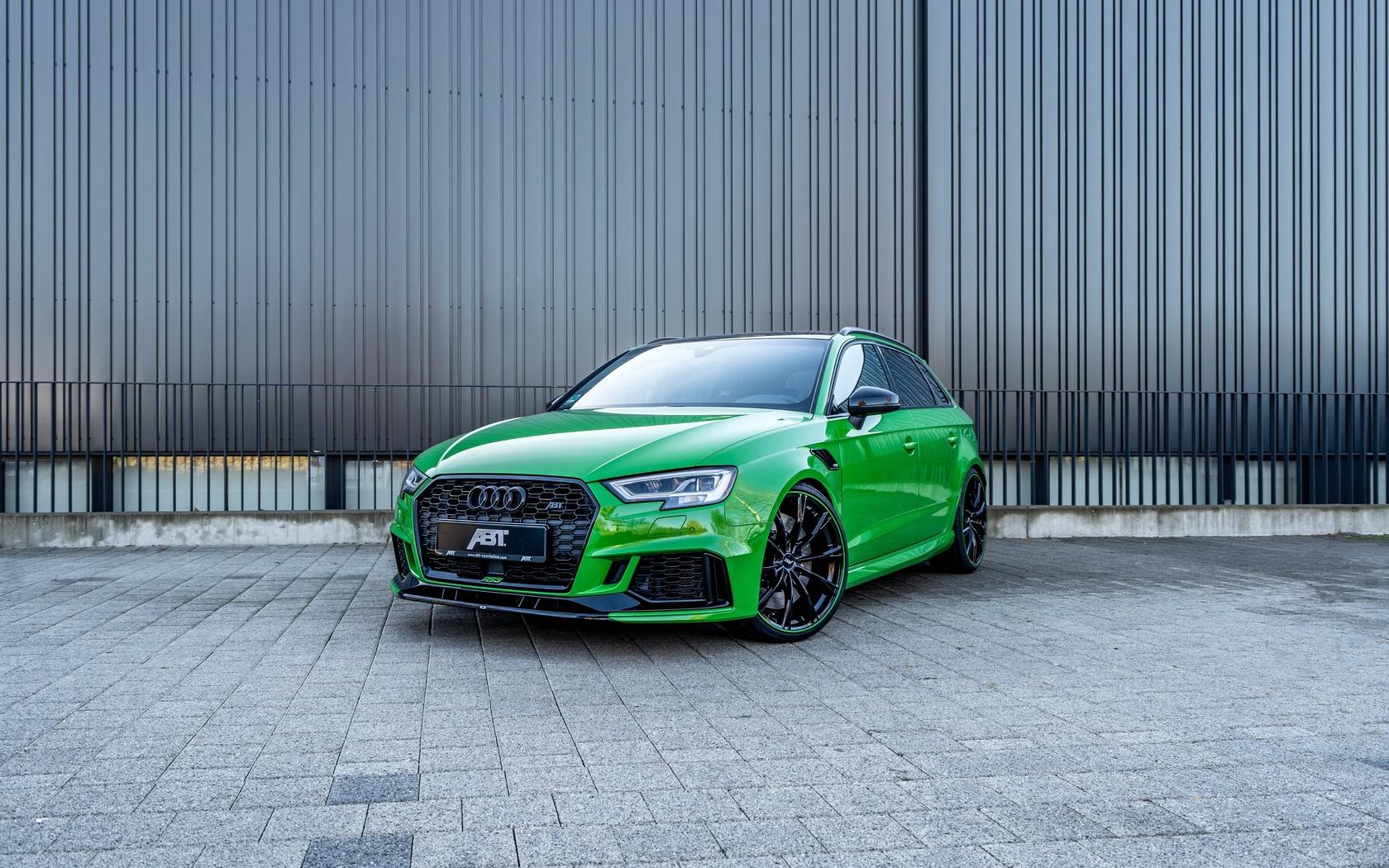 audi, abt, sportback, rs3, зеленый