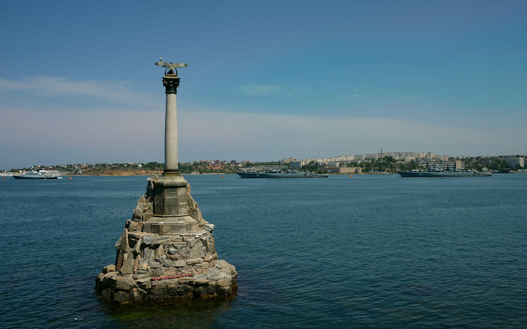 севастополь, памятник, затопленным, кораблям