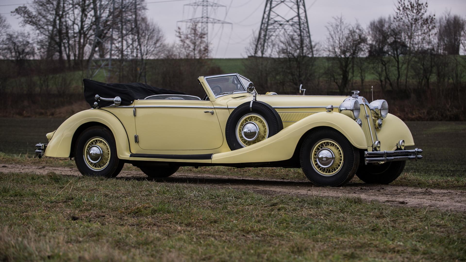 ретро, horch, 853, cabriolet, 1935–37, кабриолет
