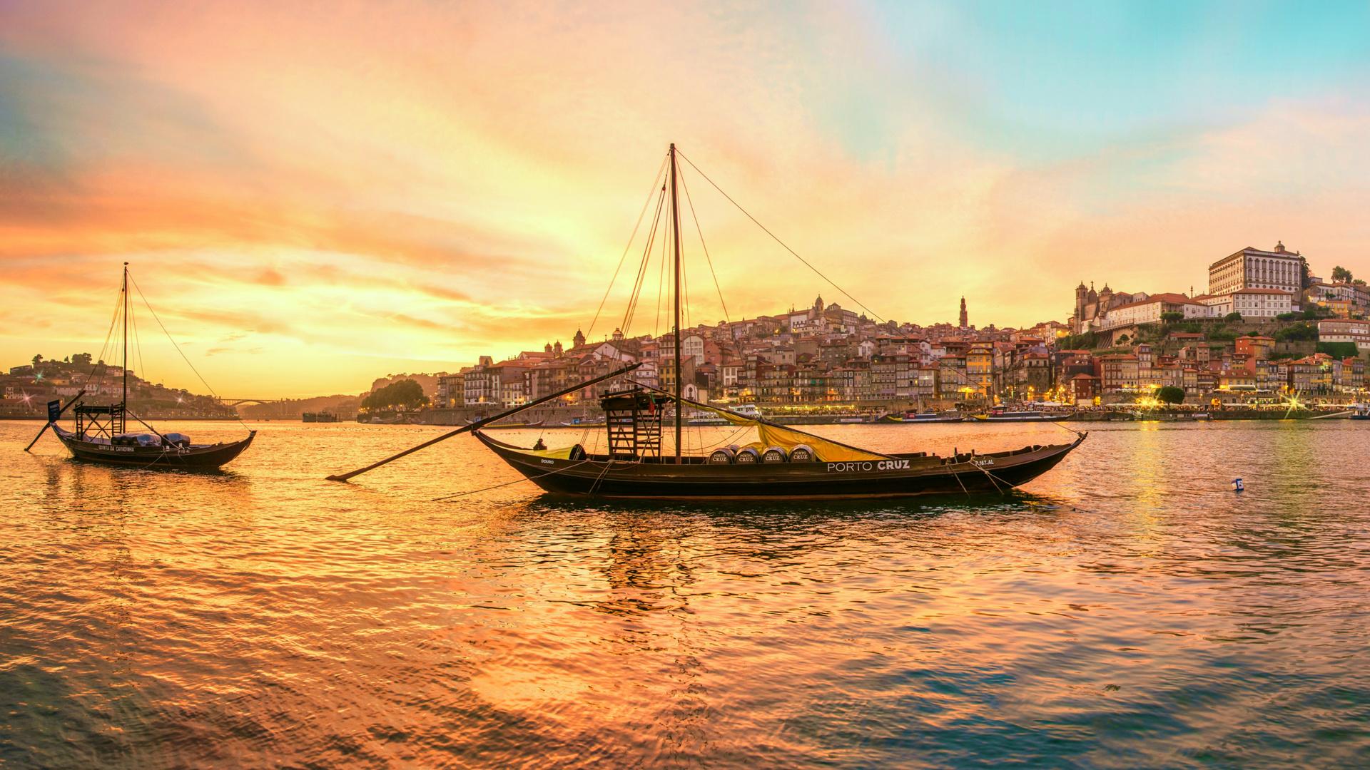 порту, вечер, португалия