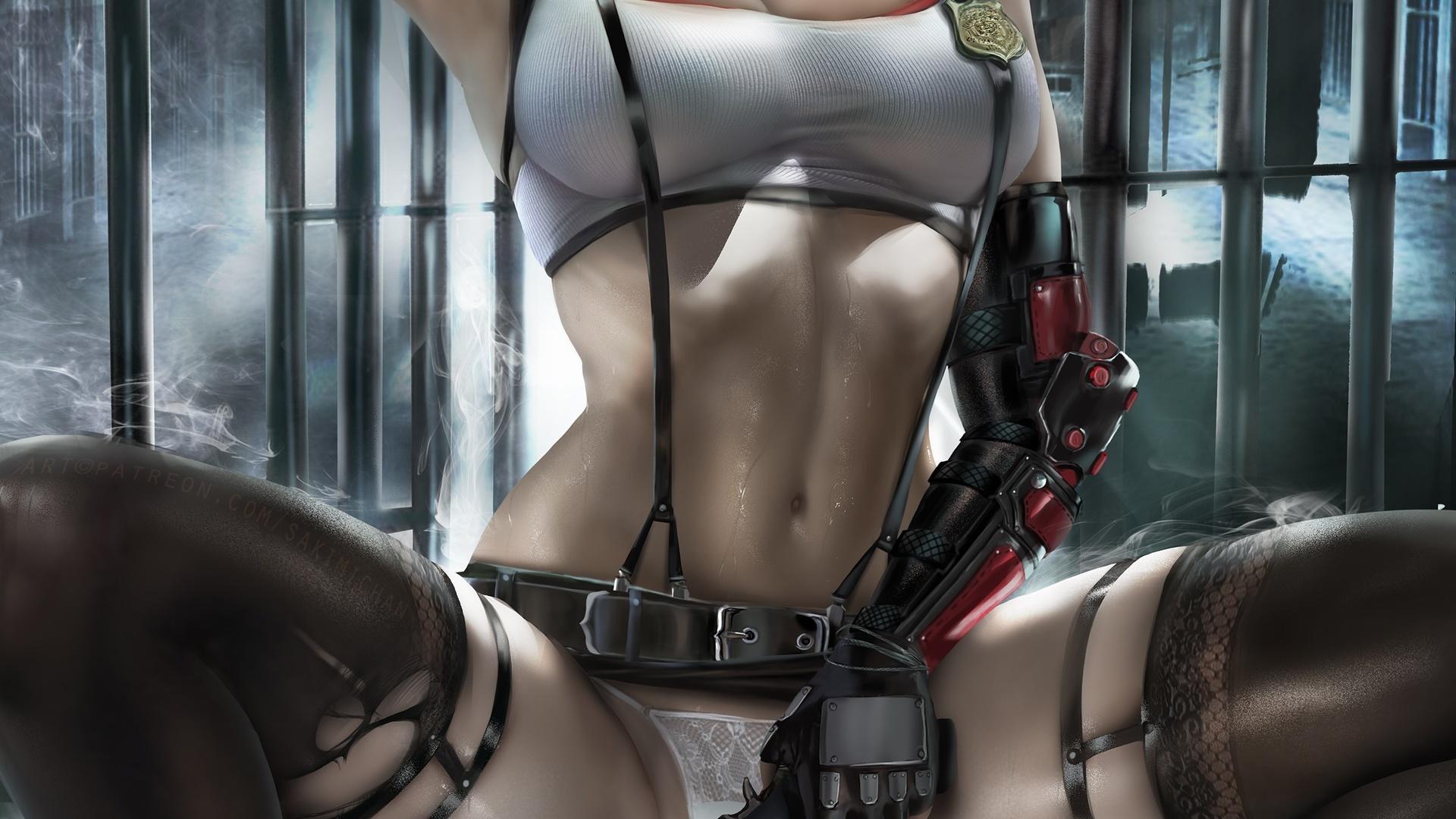 art, girl, anime, sexy, tifa, ada wong, game, resident evil