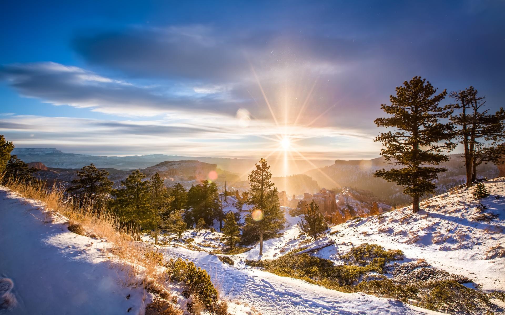 пейзаж, природа, снег, зима