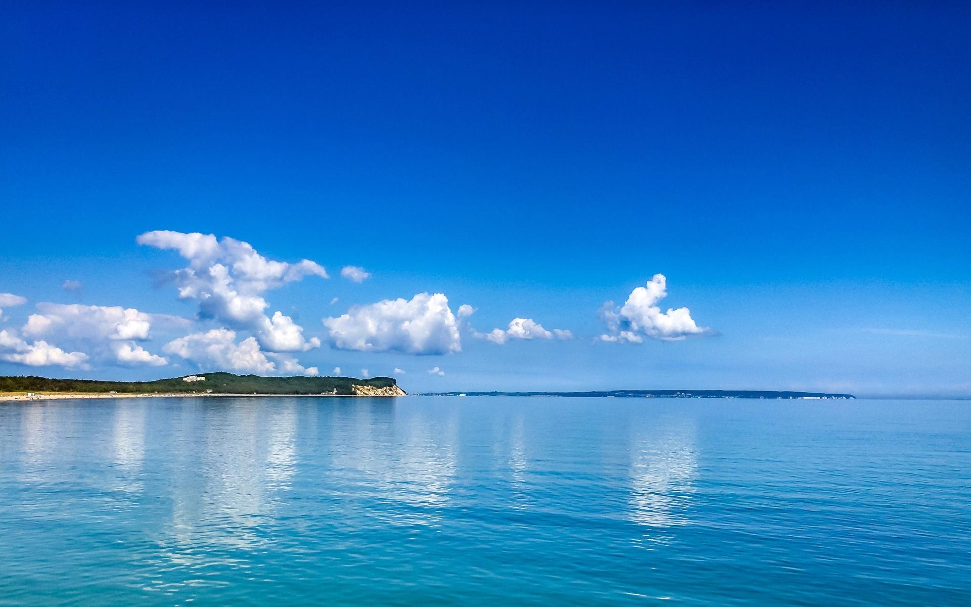 небо, побережье, балтика