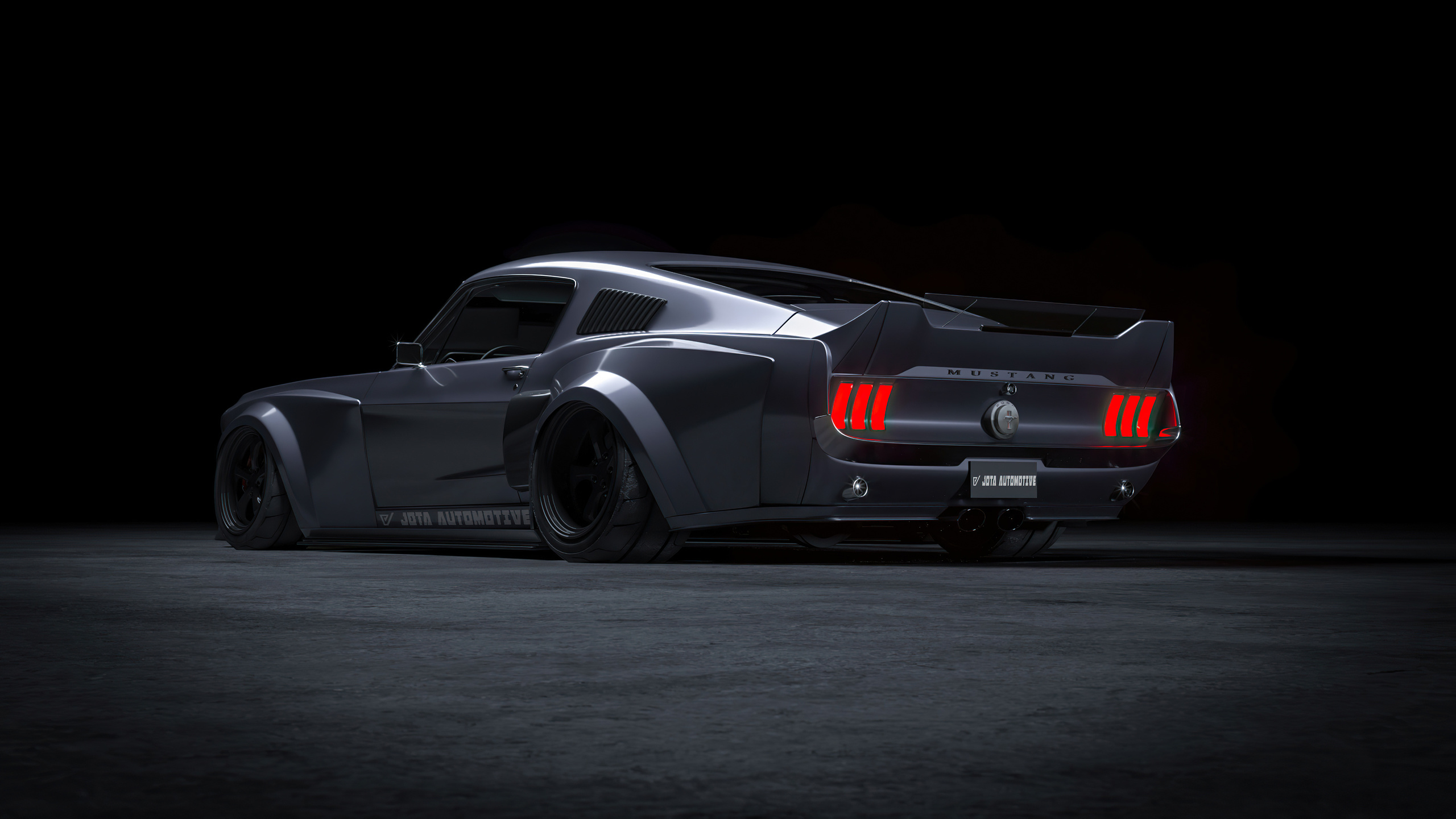 ford, mustang, fastback, 1967, widebody