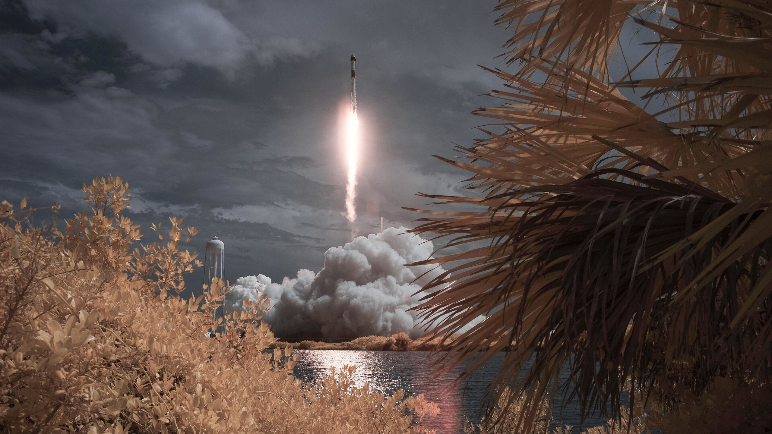 space, x, falcon, 9, rocket, crew dragon