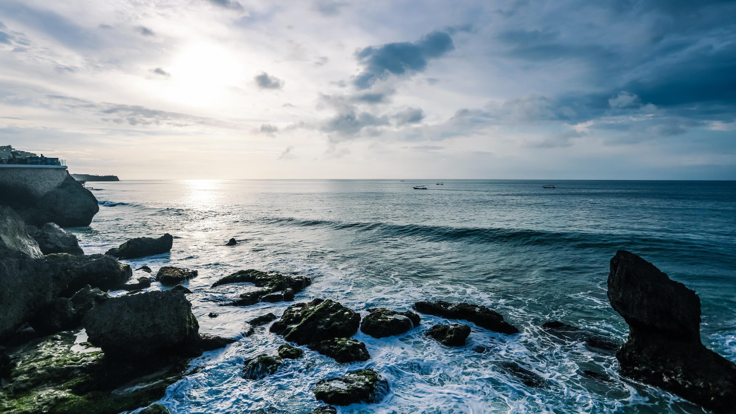 море, камень, пляж, океан