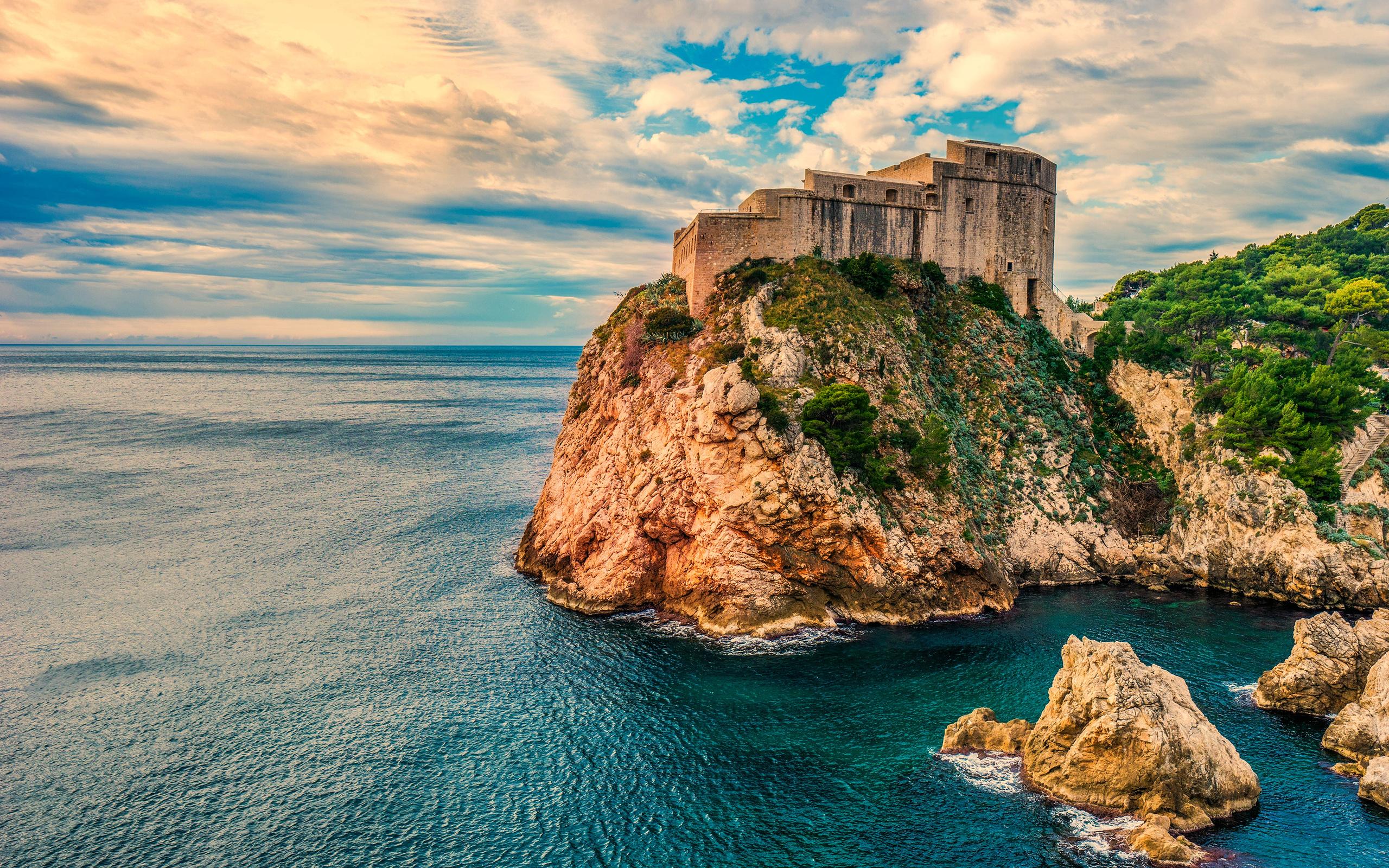дубровник, хорватия, замок