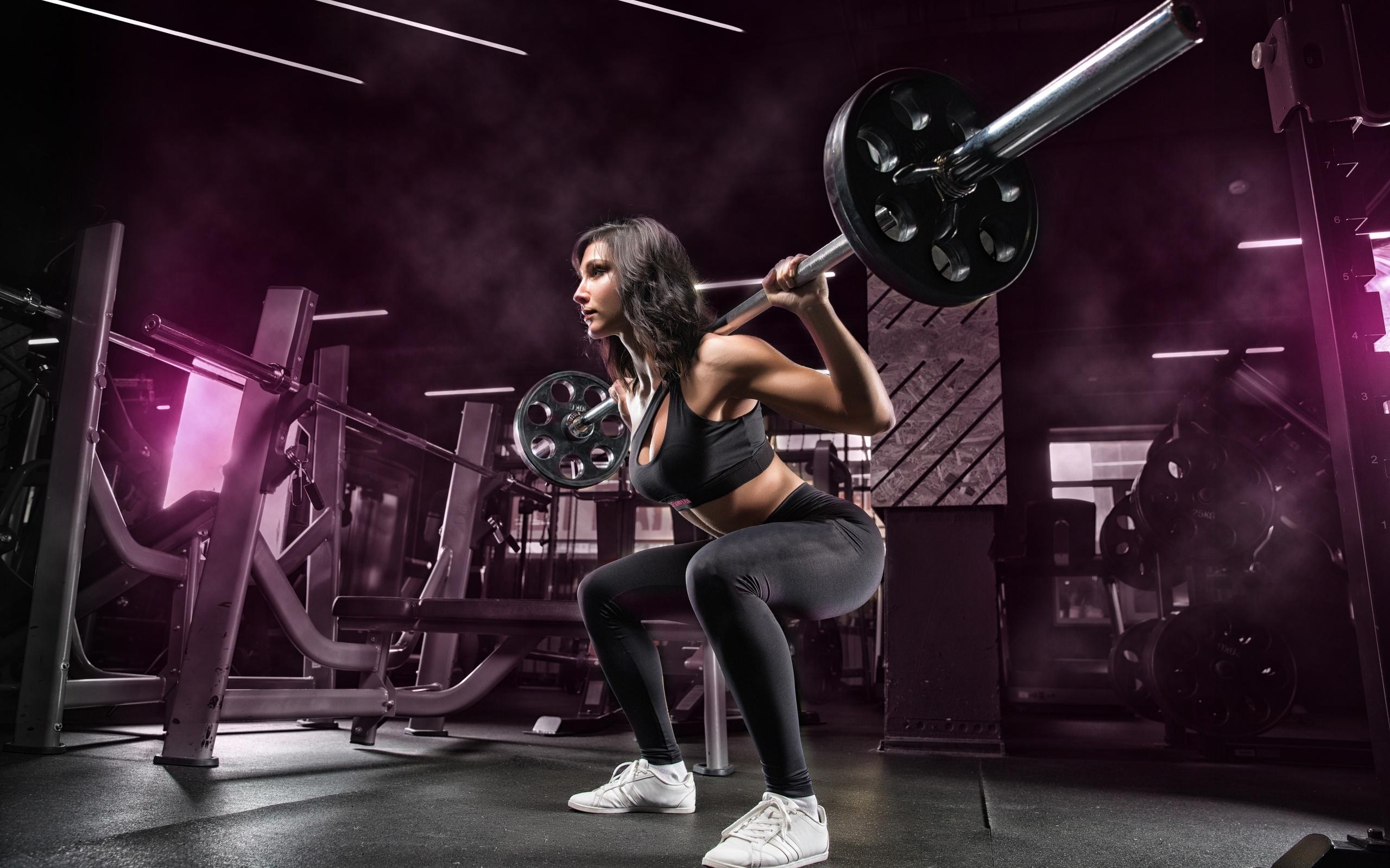 фитнес, спортзал, тренировка