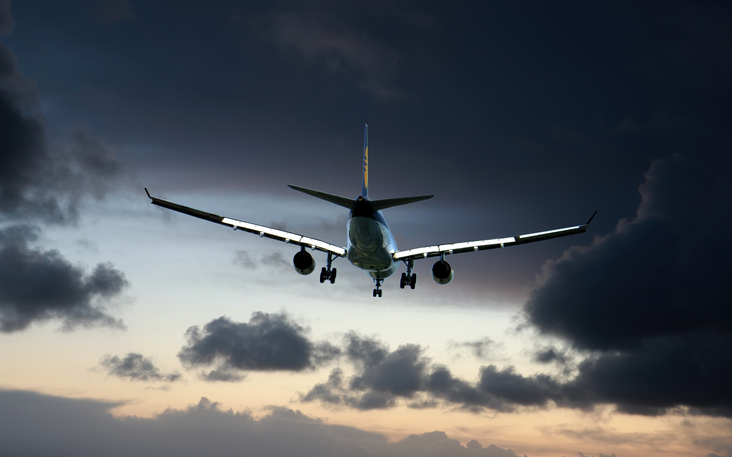 небо, самолет, посадка