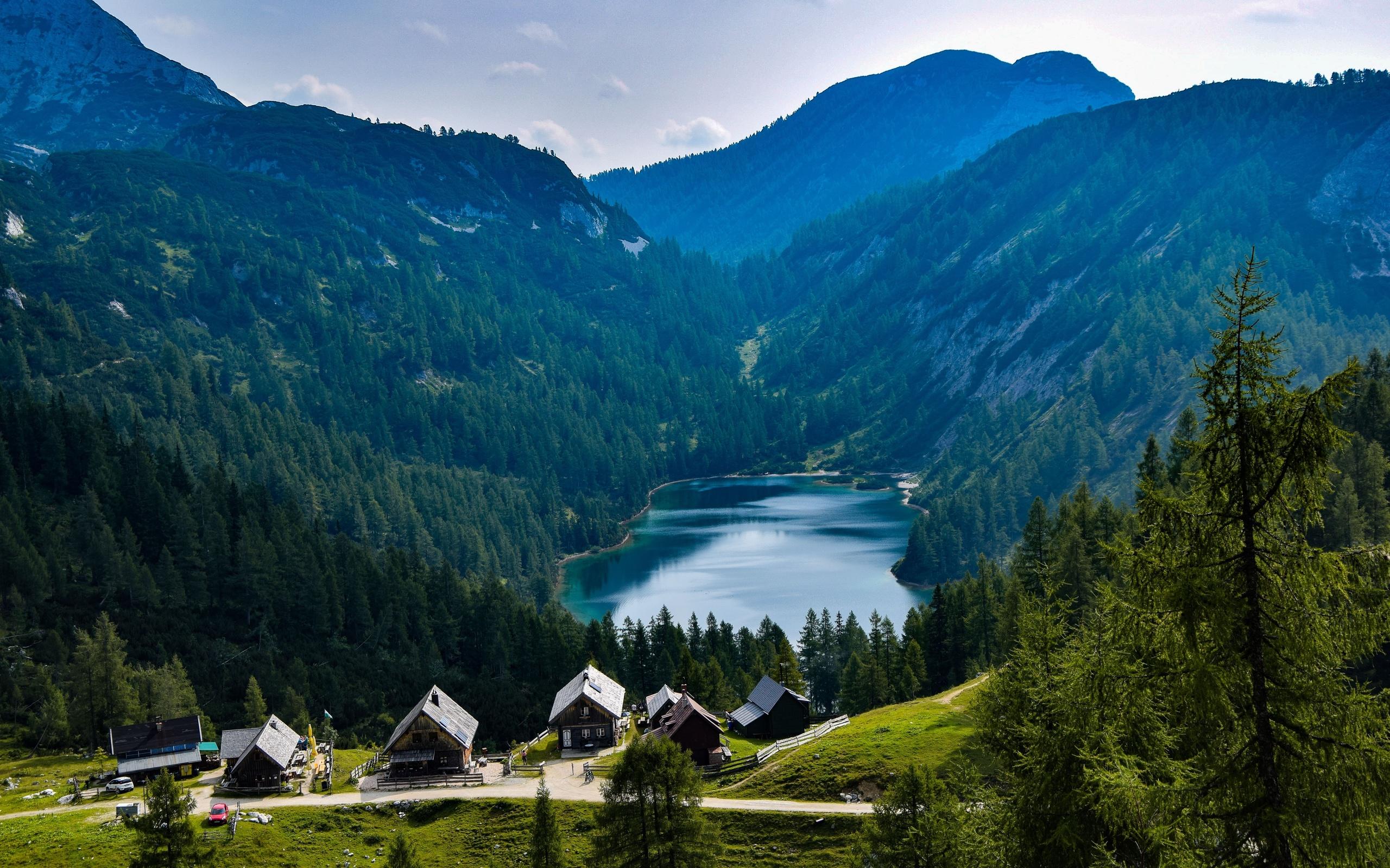 германия, берг, озеро, горы, поселок