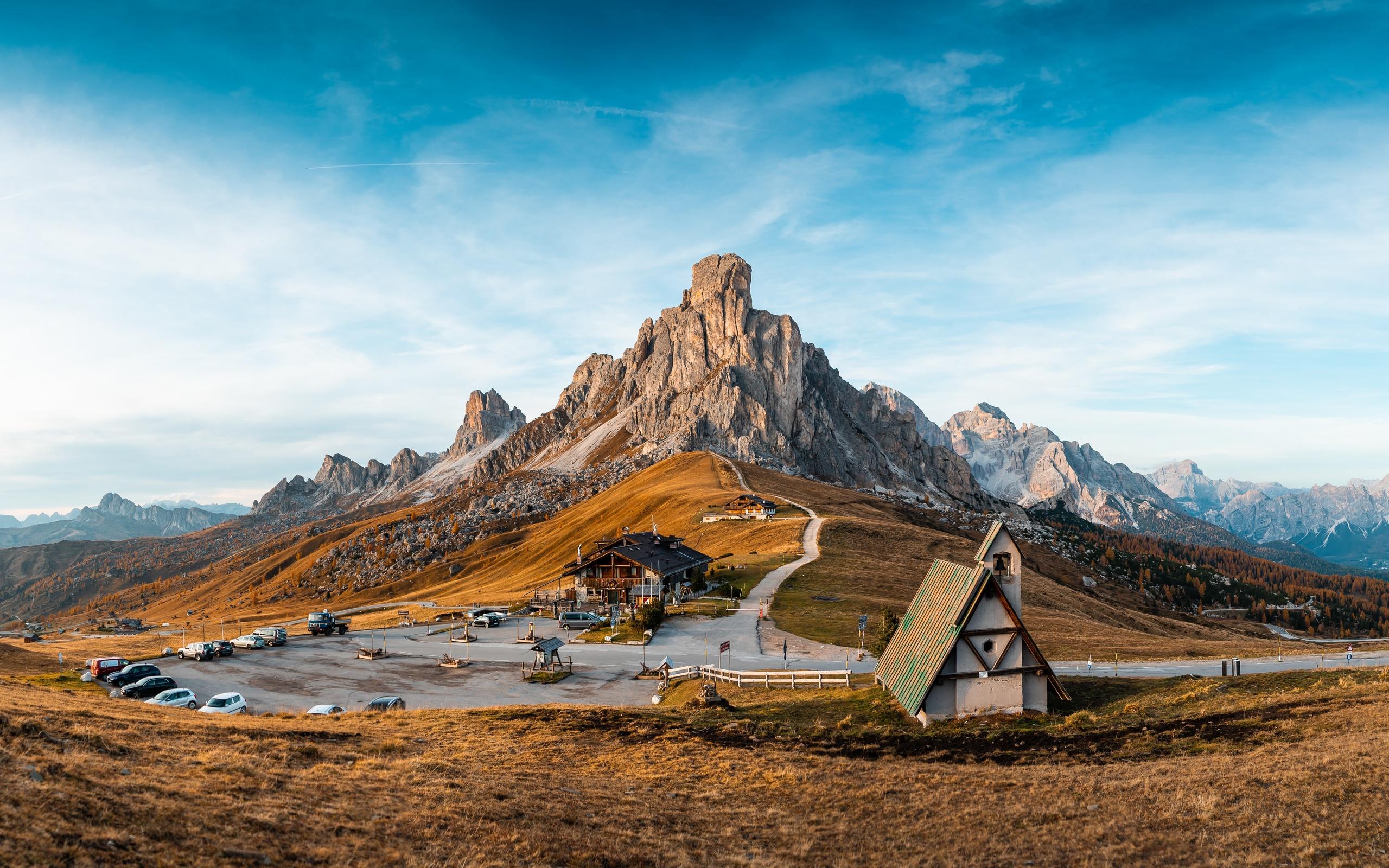 горы, италия, курорт, небо, пейзаж, cinque torri di averau, passo jau pass, природа
