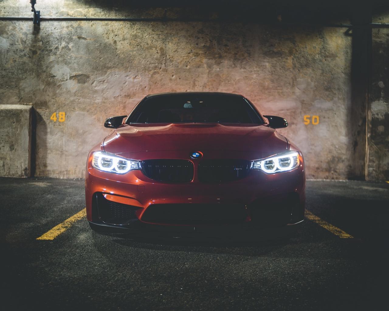 320i, bmw, машина, вид спереди, красный