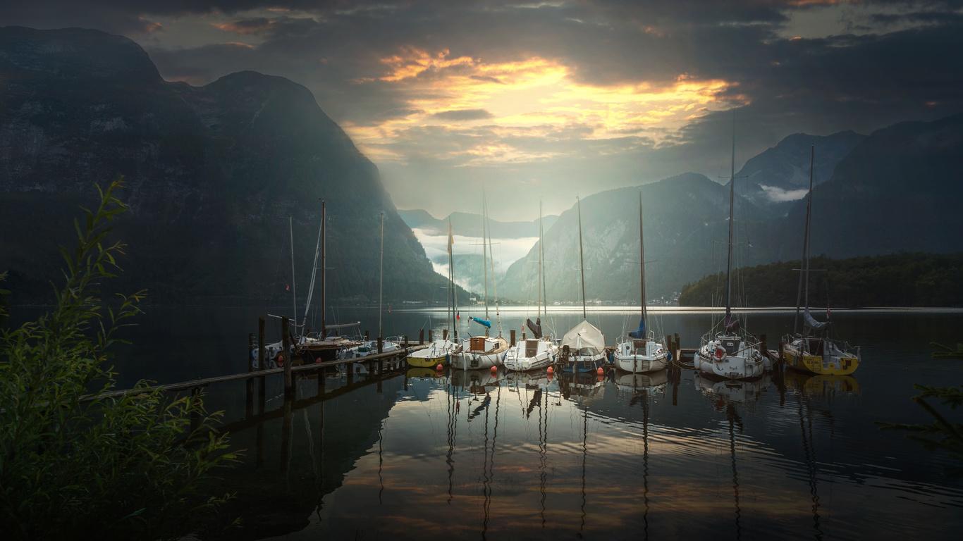 austria, австрия, причал, яхта, природа