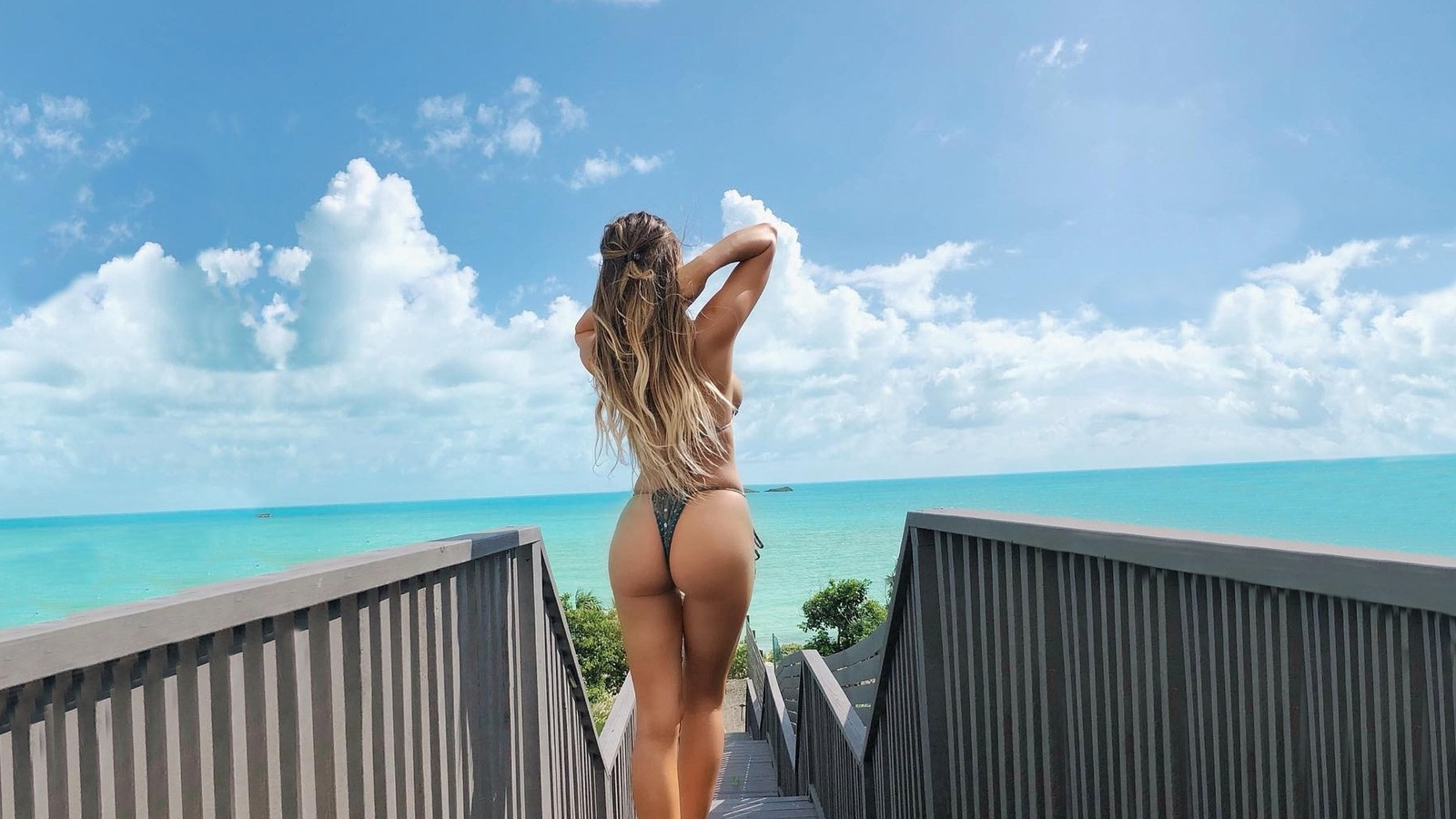 julianne kissinger, девушка, модель, море, голубое, лето