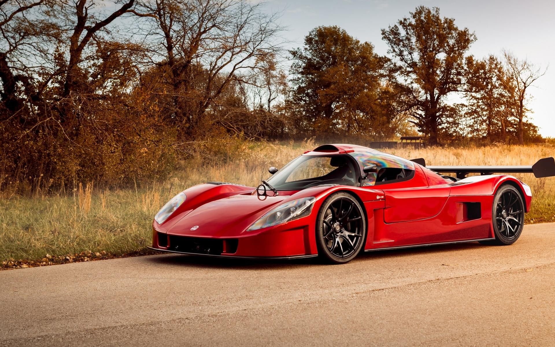 superlite, slc, 600, спорткар,красный,дорога,вид сбоку