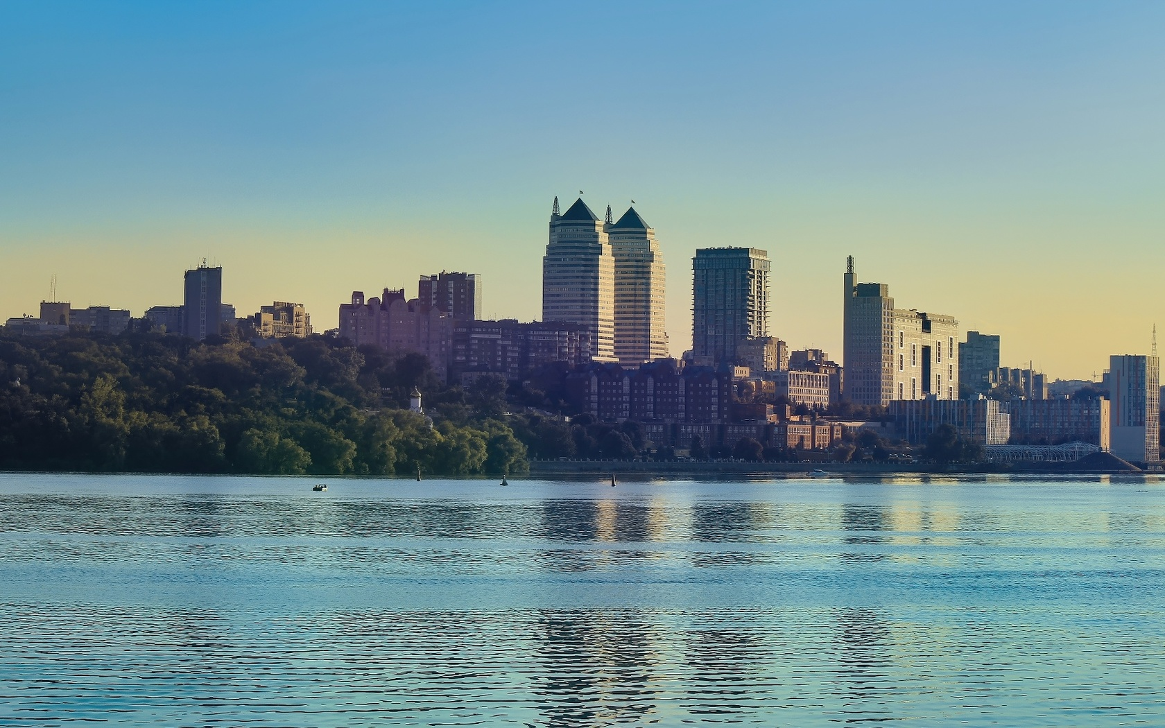 город, вода, река, дома