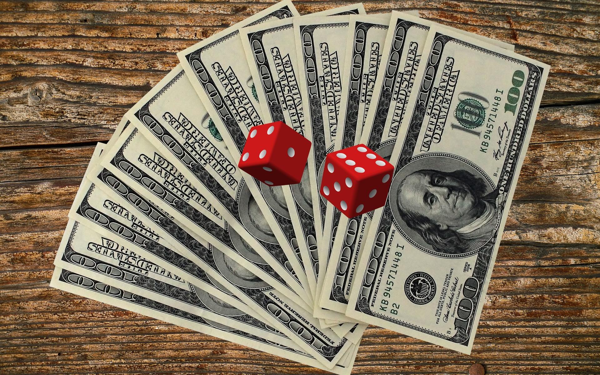 доллары, кости, игра, риск