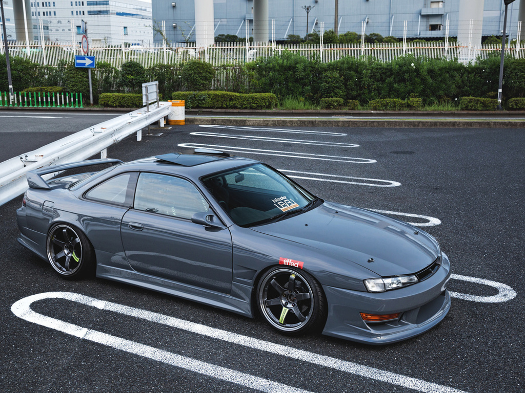nissan, silvia, s14, jdm, gray, sports coupe, tuning