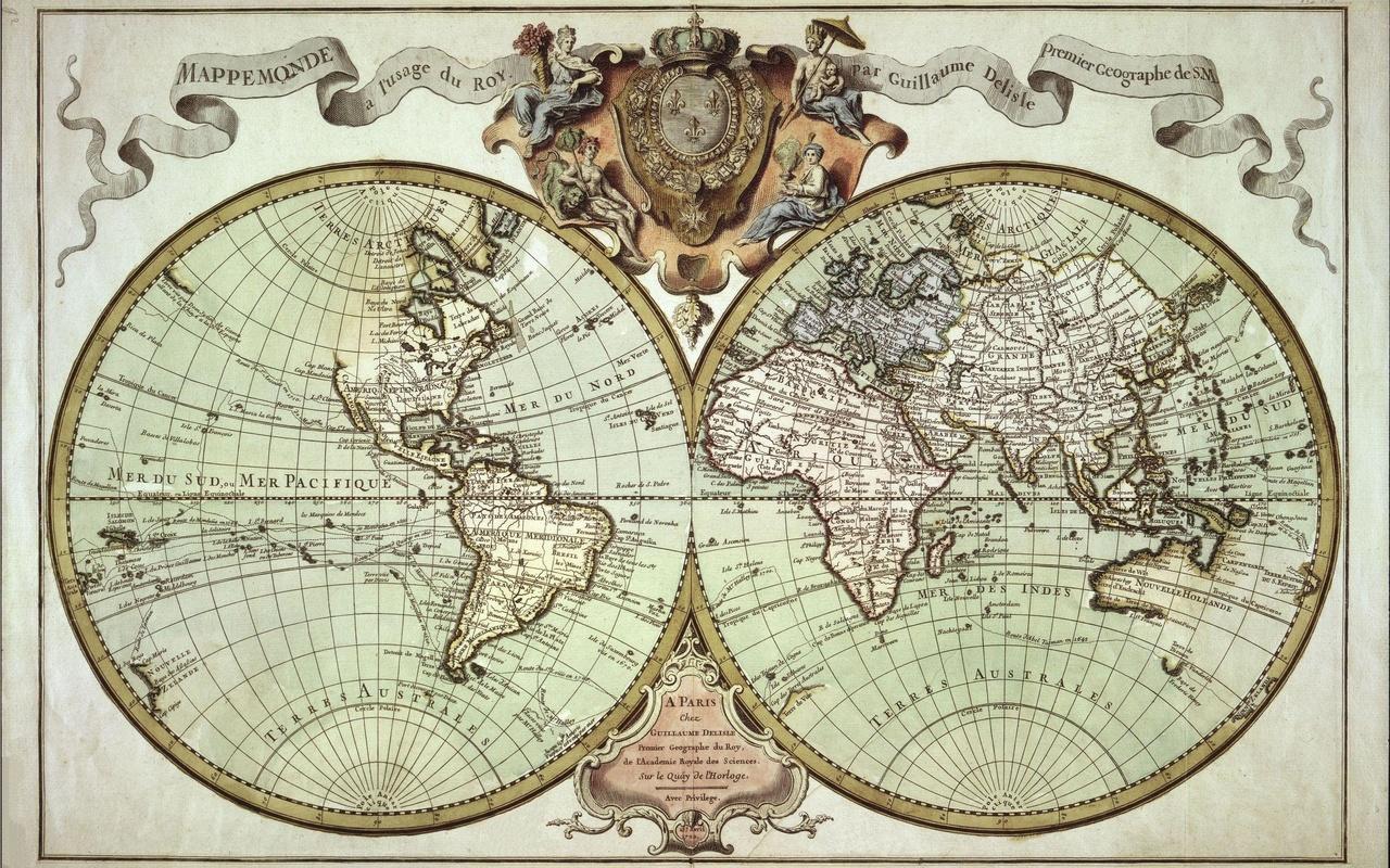 карта, старая