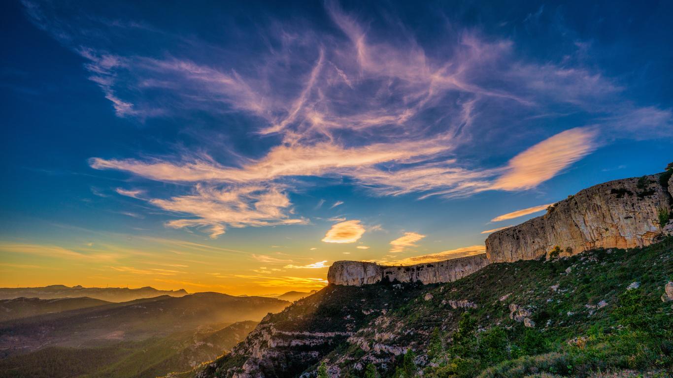 испания, горы, небо, catalonia, скала, природа