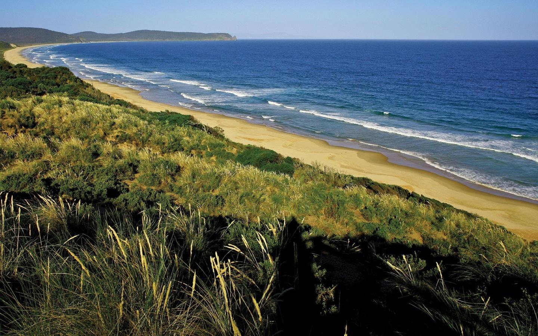 побережье, море, волны, пляж