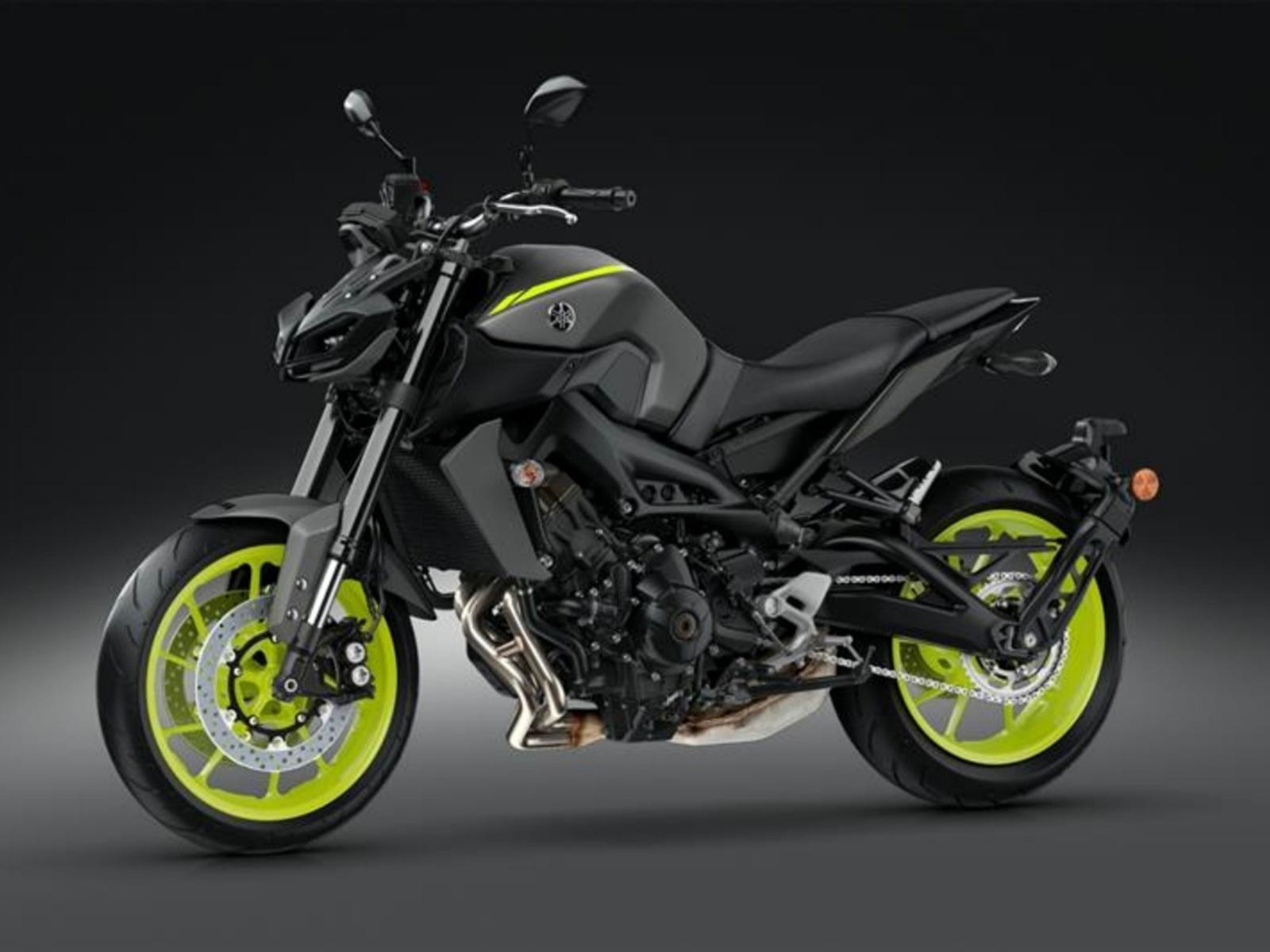 мотоцикл, yamaha mt - 09, тёмный фон