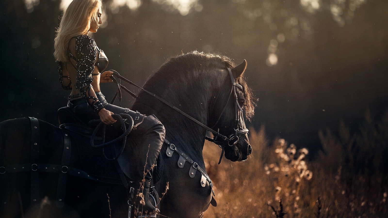 daria lefler, amazon, warrior, woman, with, black