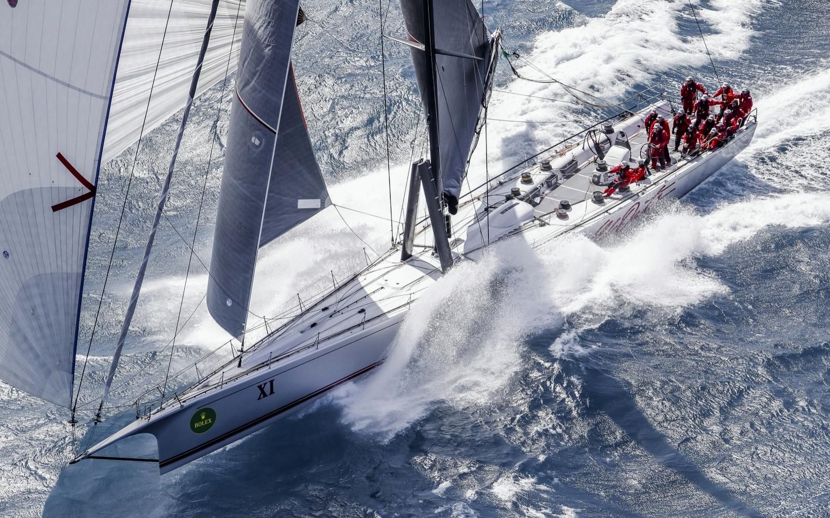 море, яхта, команда rolex