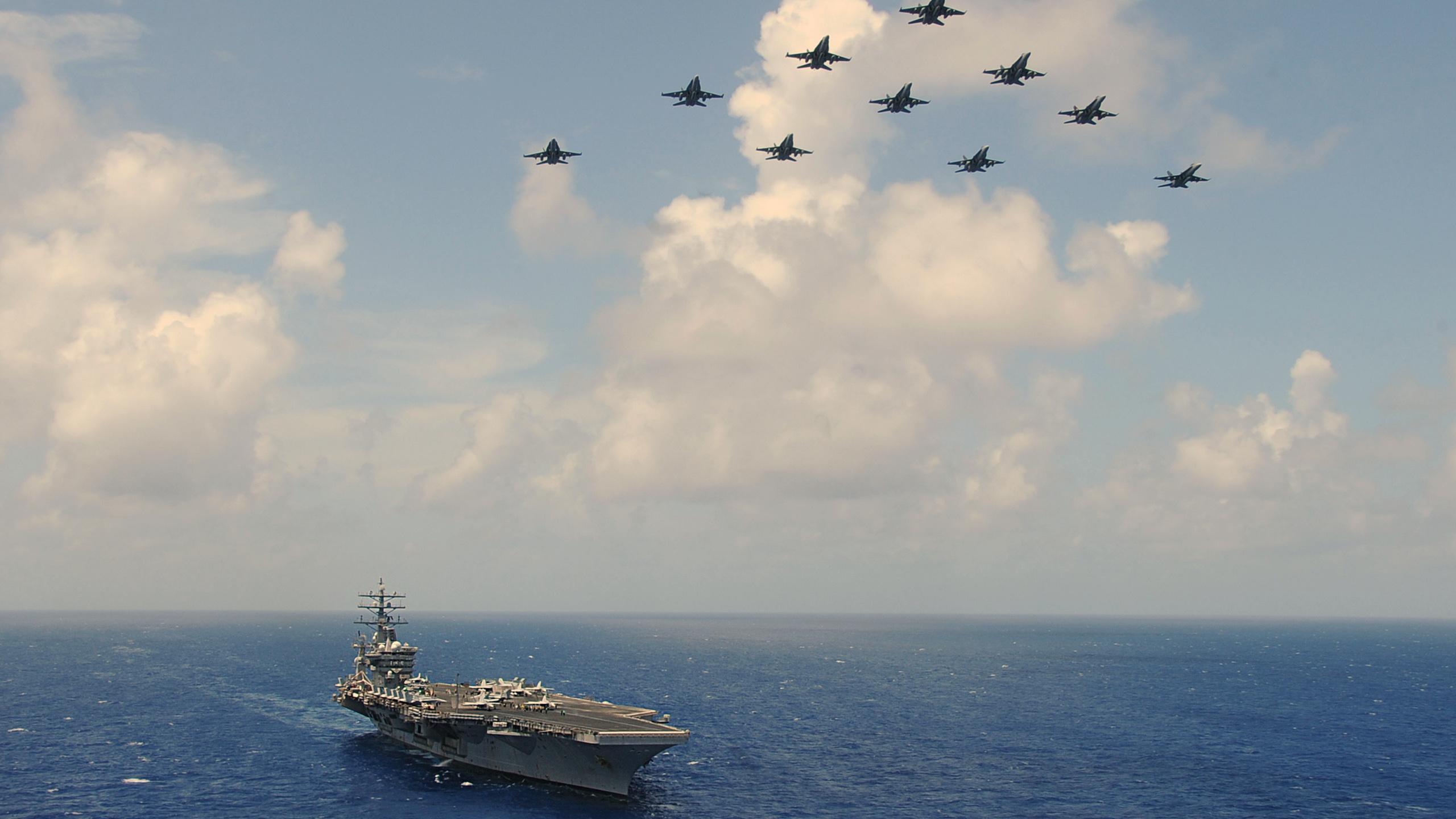 самолёты, авианосец, атомный