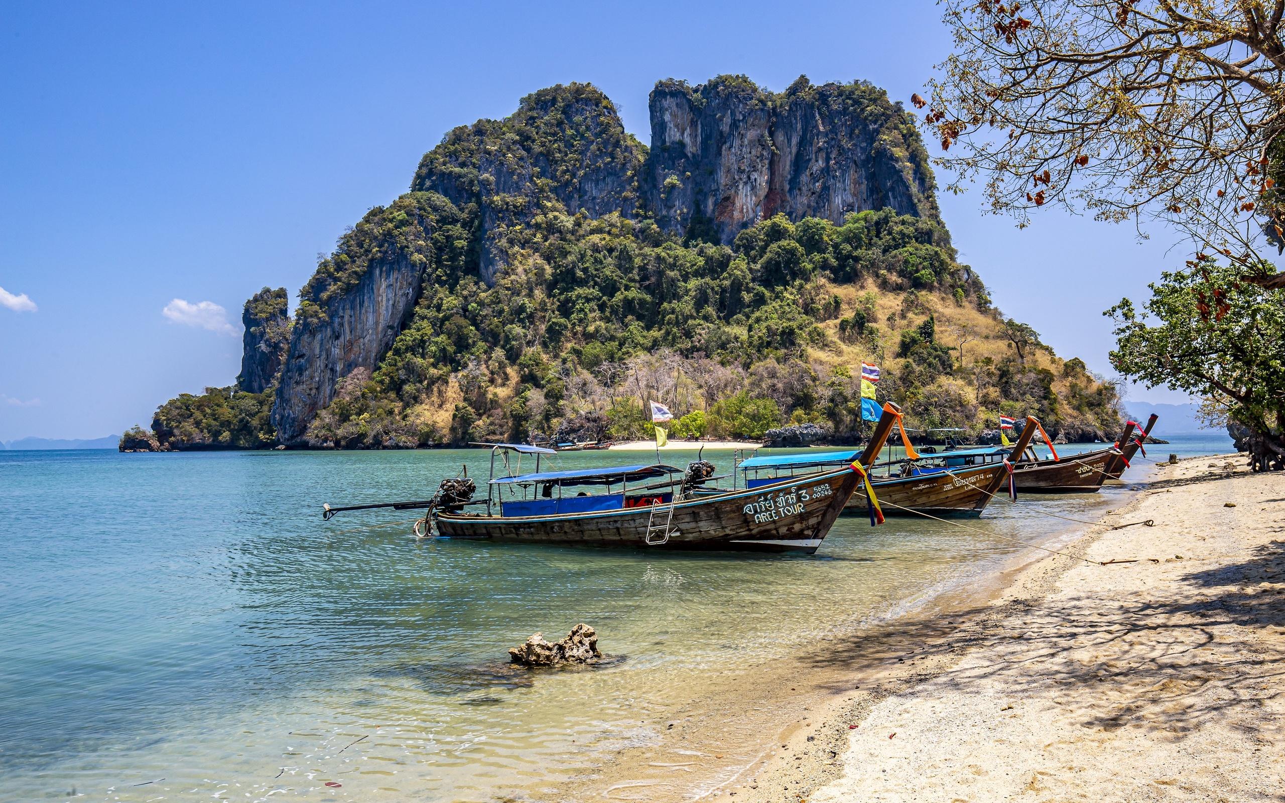 таиланд, остров, лодки, побережье, phuket, природа