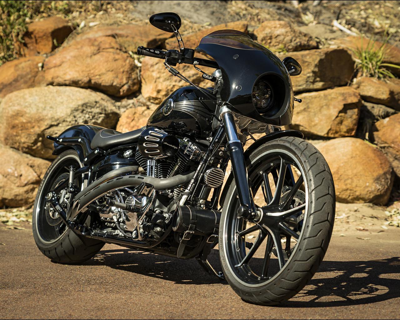 harley davidson, мотоцикл, байк, custom