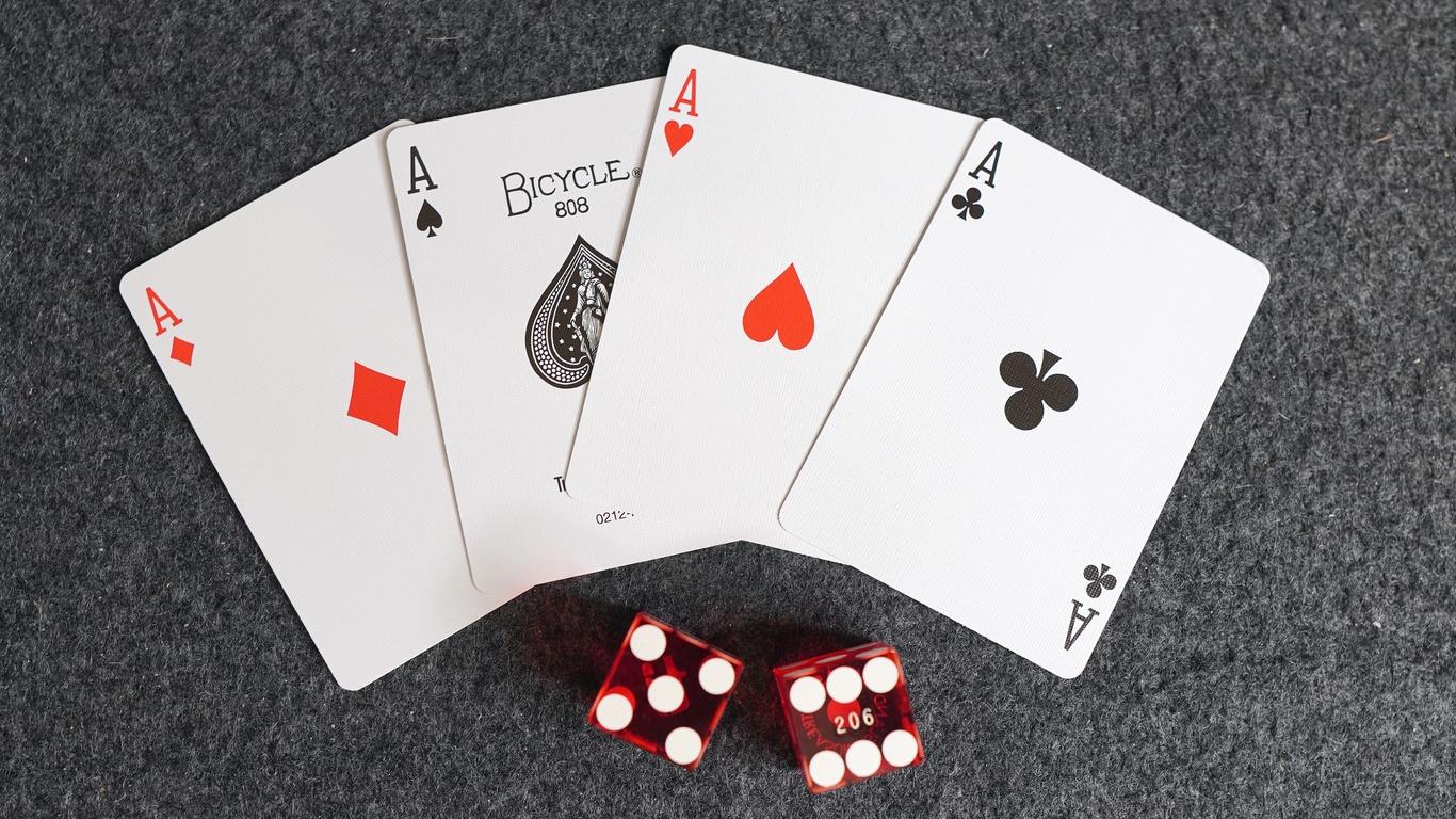 карты, тузы, кости, игра