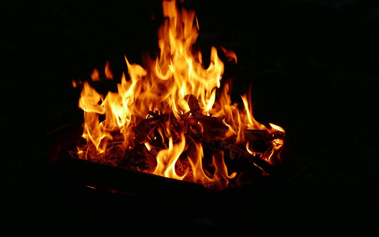 огонь, костёр, фон