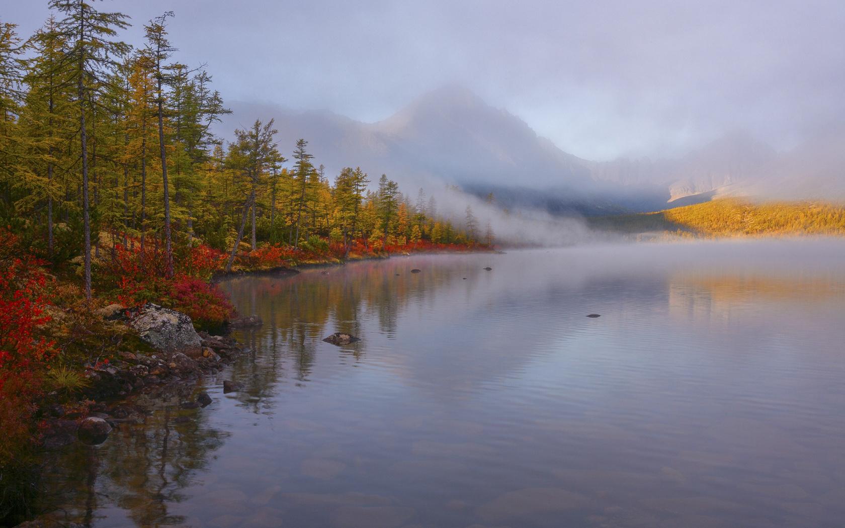 владимир рябков, колыма, осень, озеро
