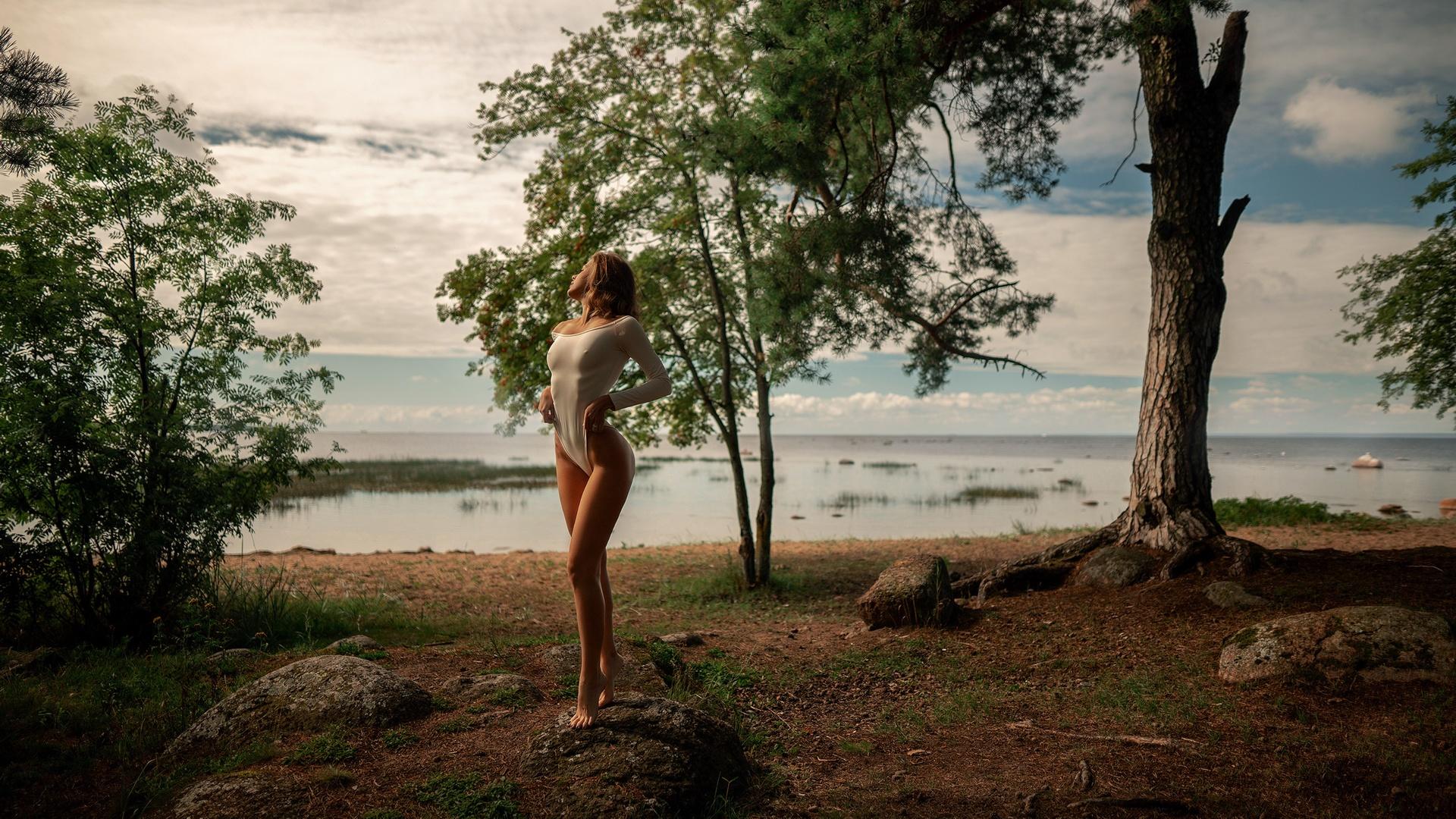 природа обои, пейзаж, девушка, алекс159 растягивает обоины как свое очко