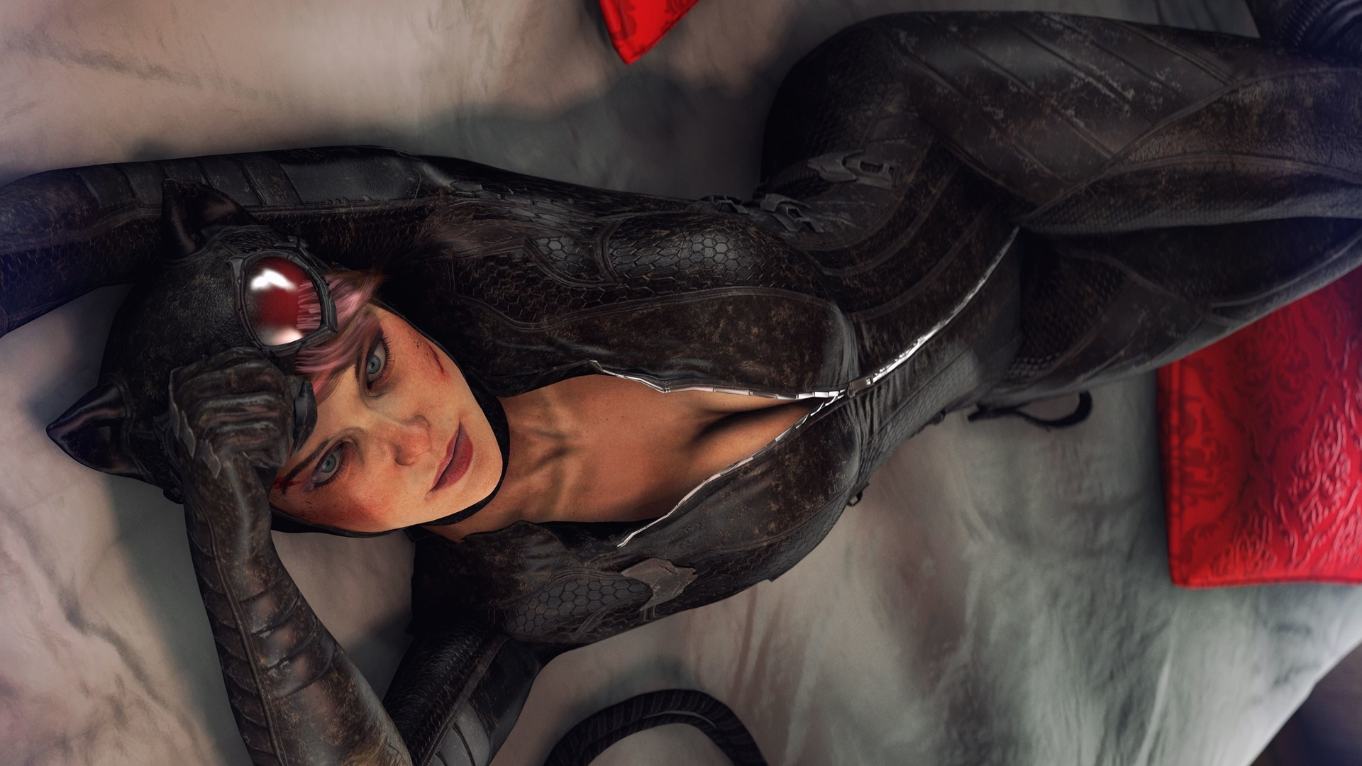 женщина-кошка, batman, arkham