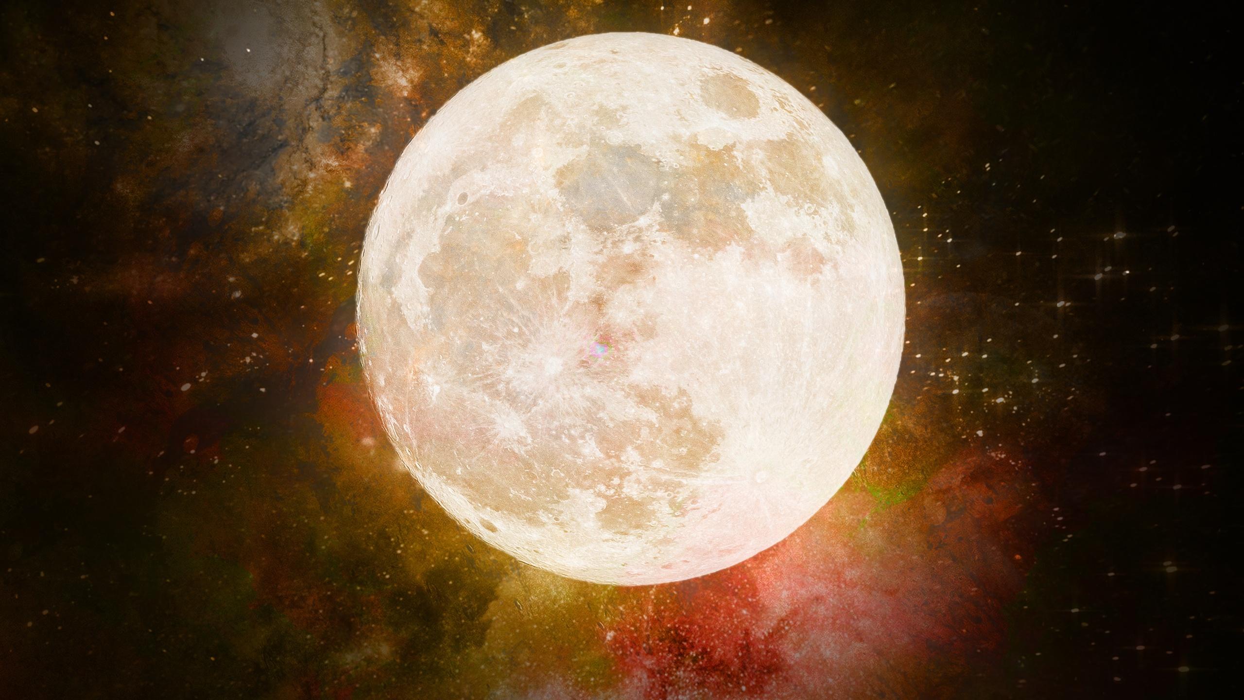 луна, галактика, космос