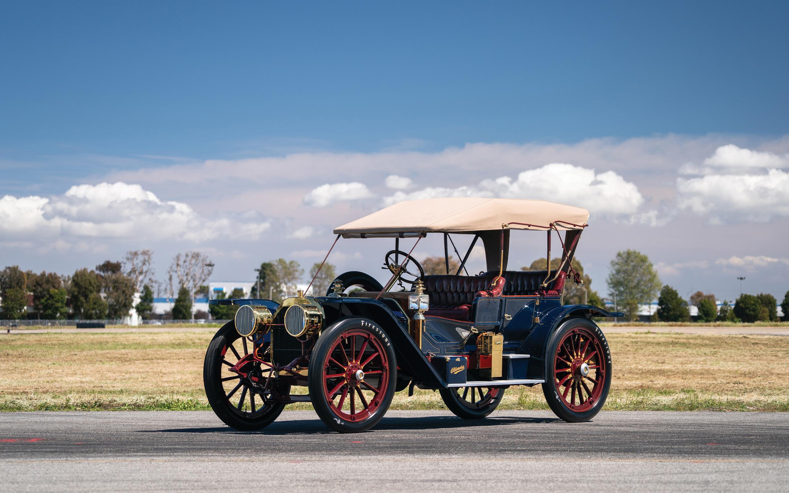 oldsmobile, limited, prototype, 4k, retro, cars, 1908