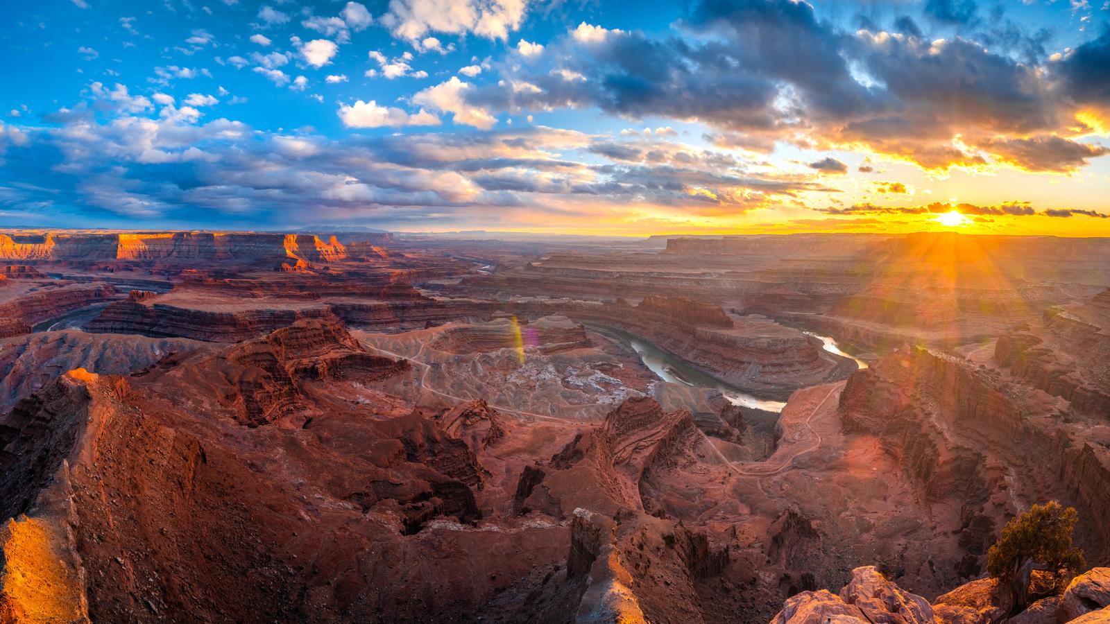 широкоформатные, гранд-каньон, пейзаж, arizona, panorama, скала, снег, башня, природа