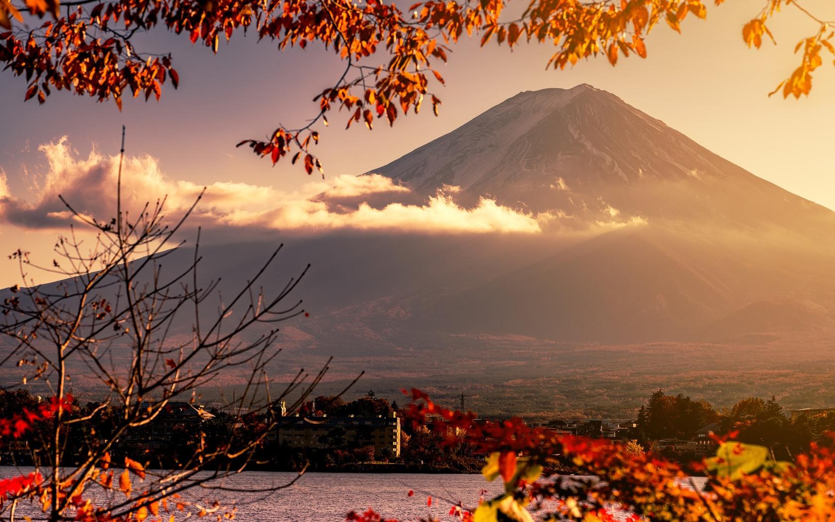 Япония, фудзияма, вулкан, природа