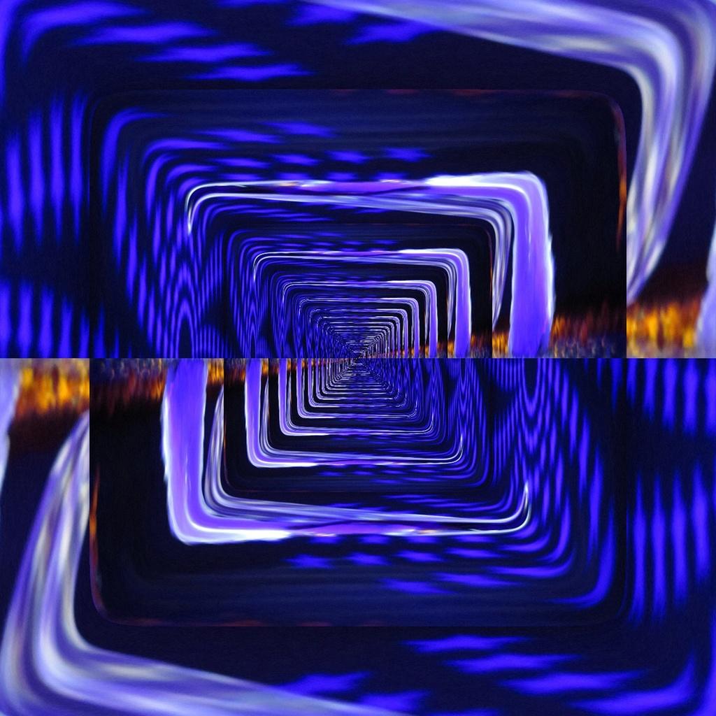 фрактал, лабиринт, фиолетовый